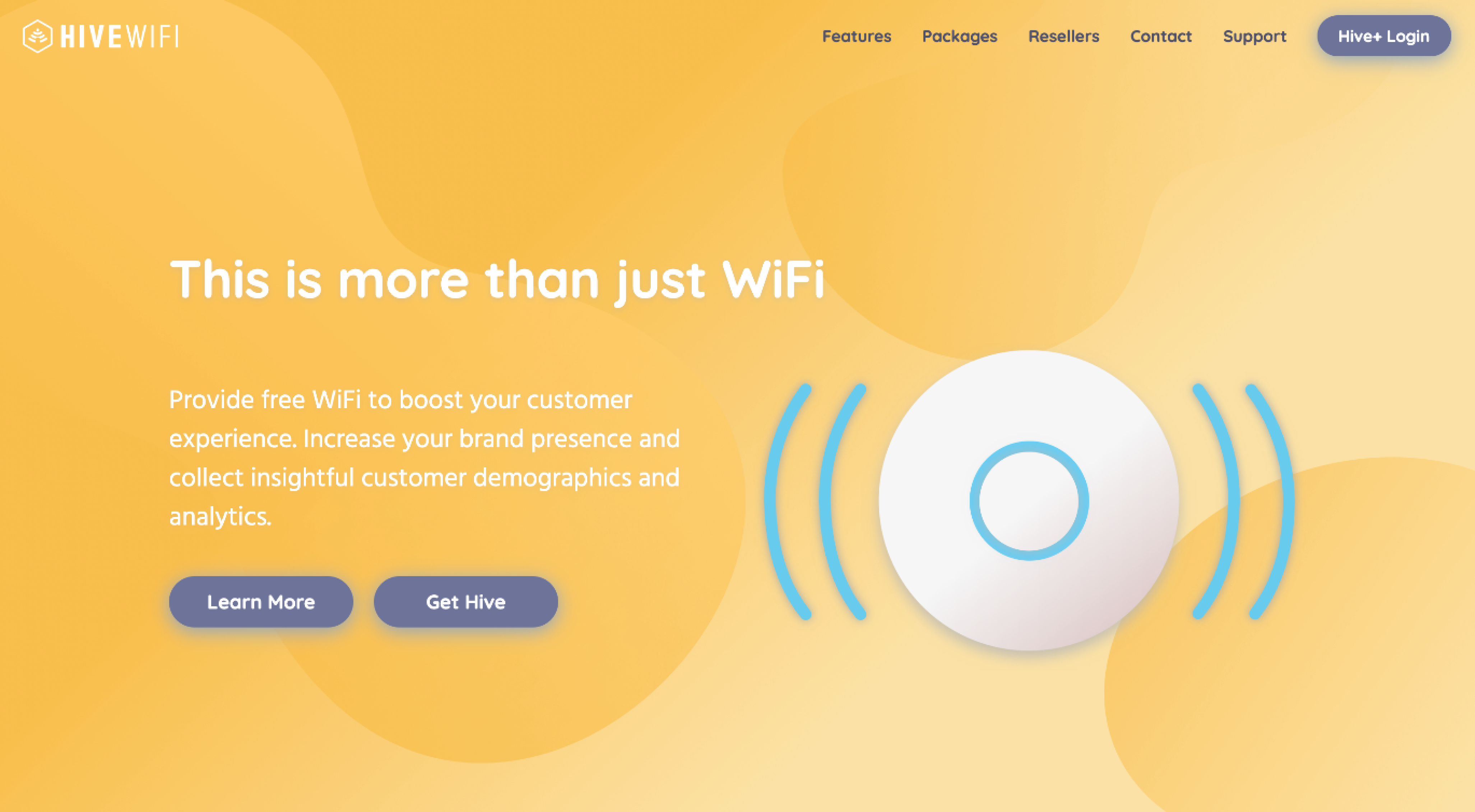 Hive WiFi Website Hero Section